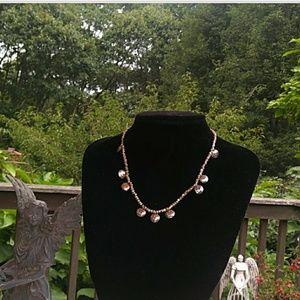 VINTAGE 925 Sterling Silver Hammered Disc Necklace